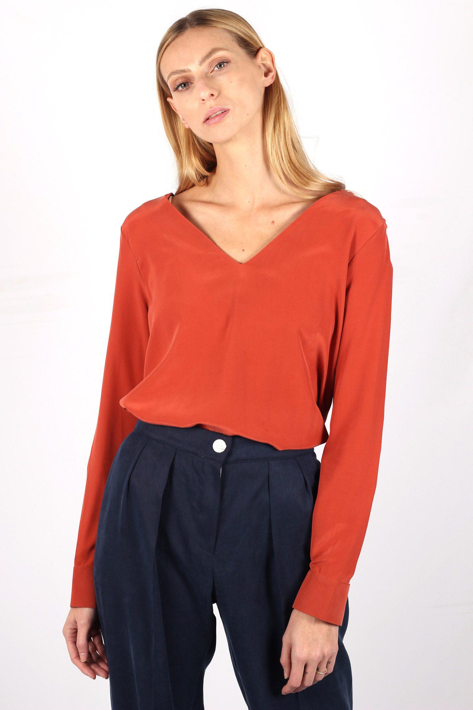 blouse soie terracotta 5