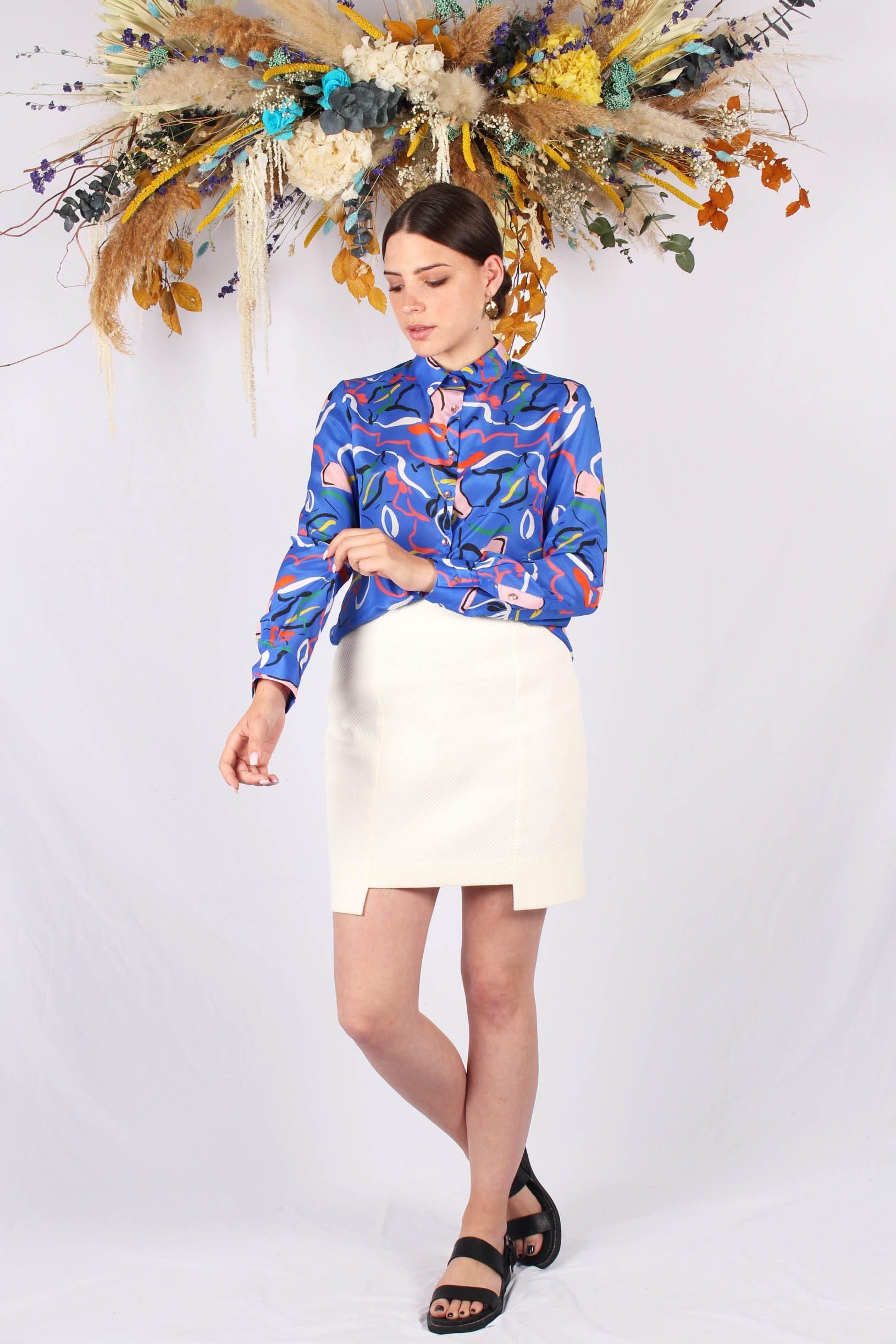 chemise imprimé bleu en soie3