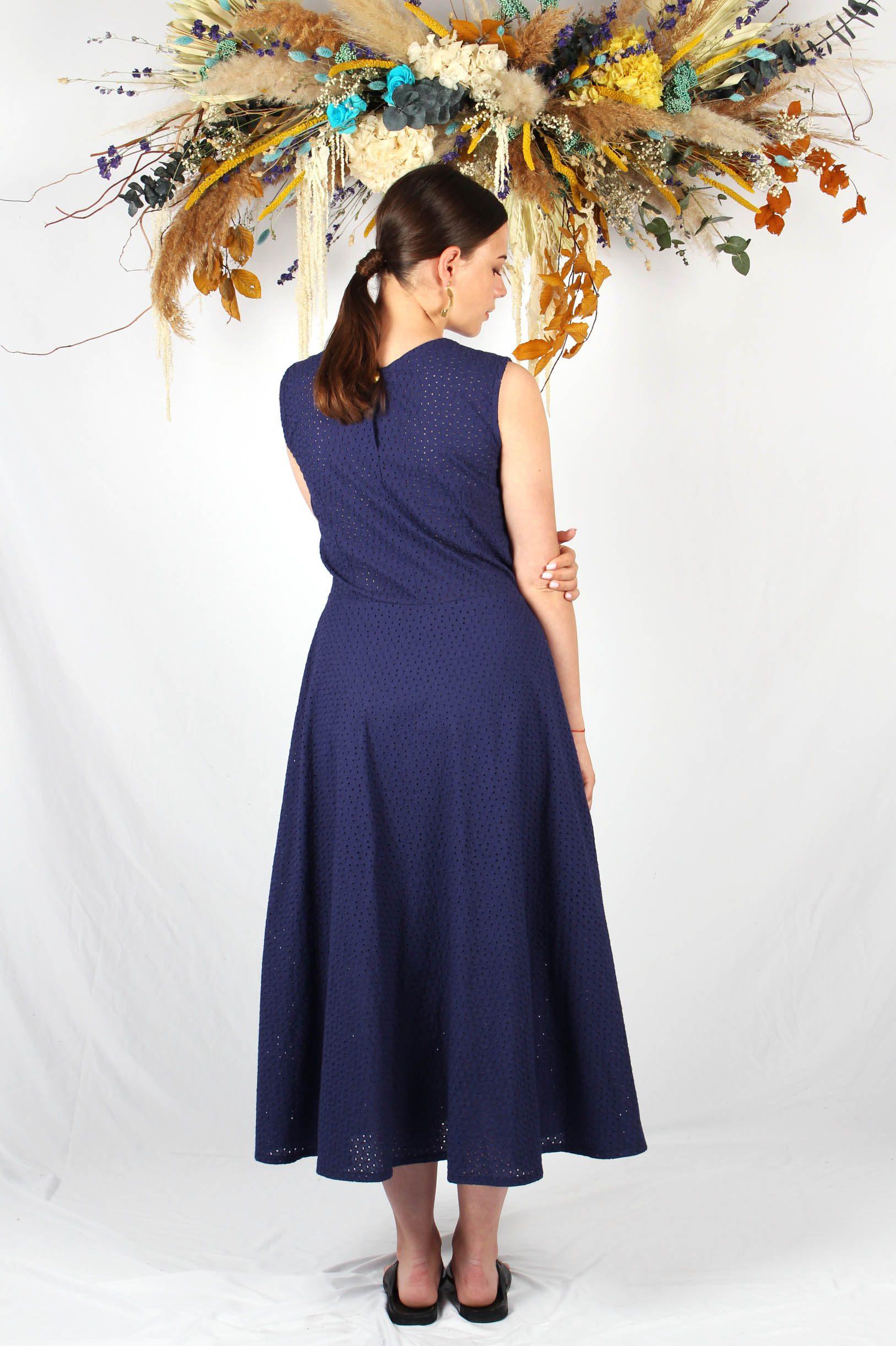 robe longue patineuse bleu marine3