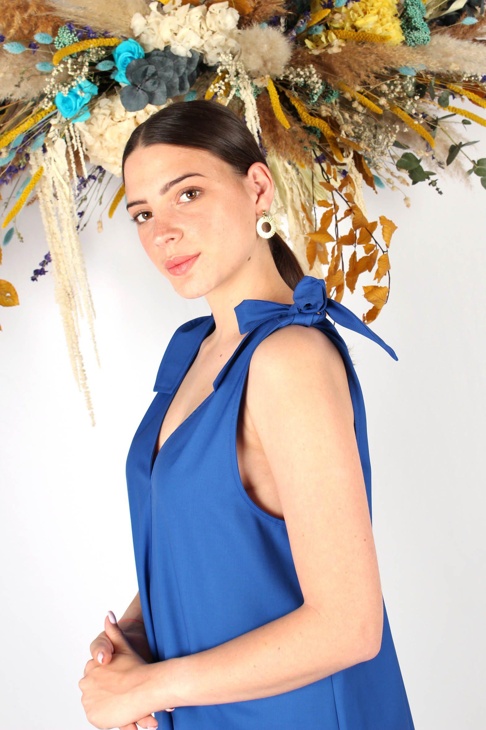 robe mi longue bleu roi7