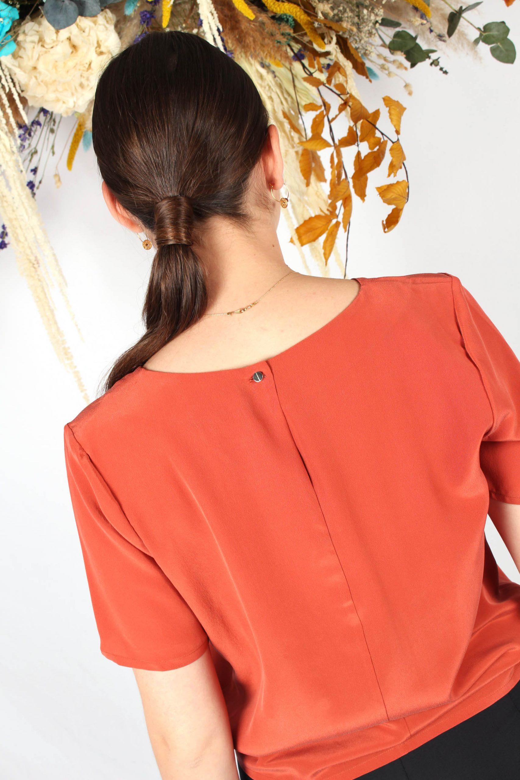 tshirt en soie terracotta3