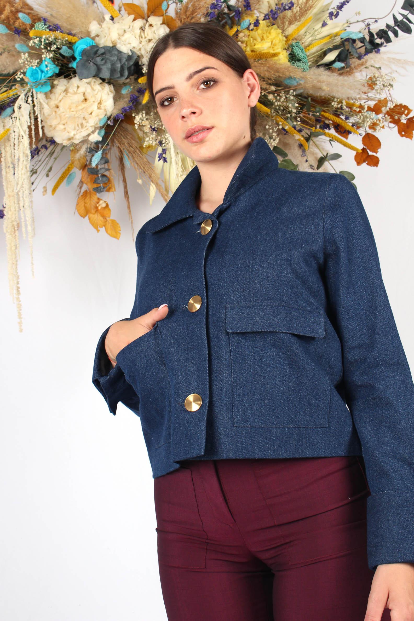 veste courte bleu jean4