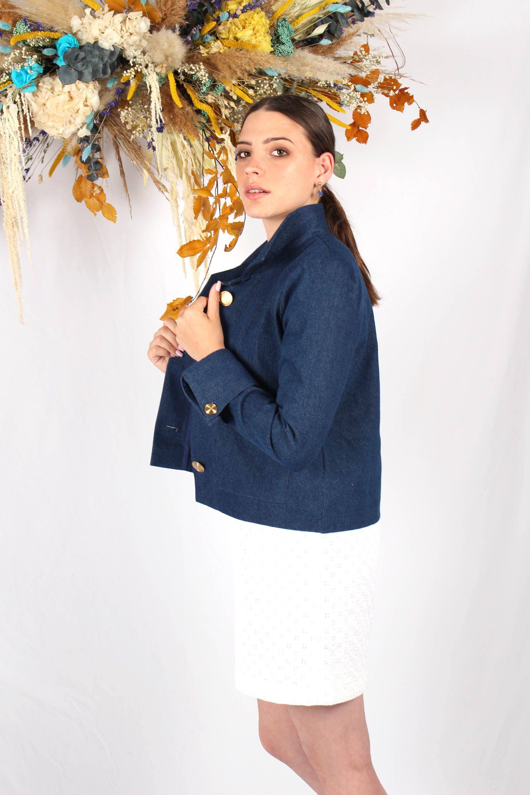 veste courte bleu jean6