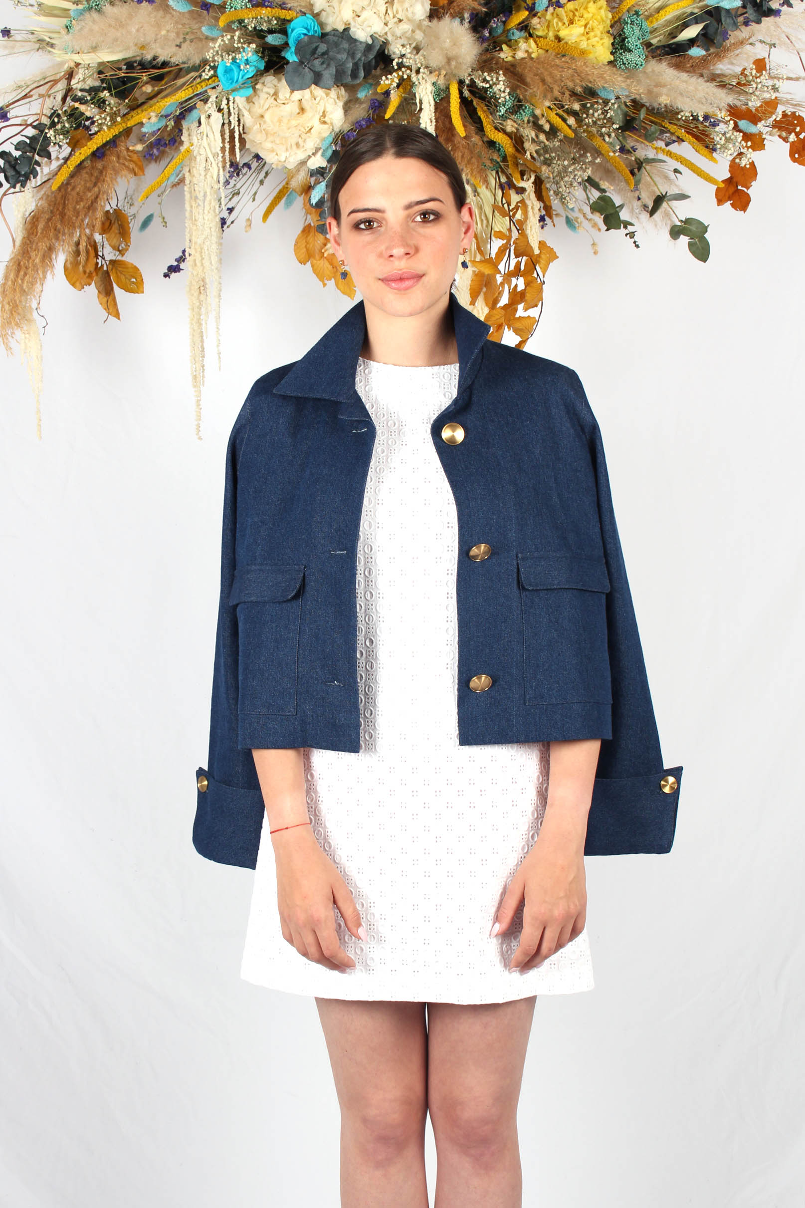 veste courte bleu jean9